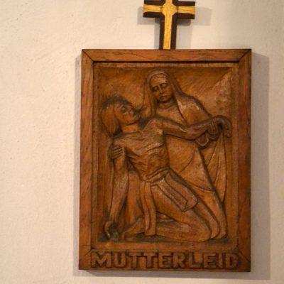 Geschnitztes Kreuzwegbild, St. Stephanus, Selgersdorf