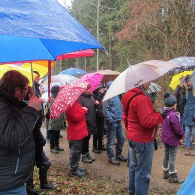 Gebetsstation bei Regen