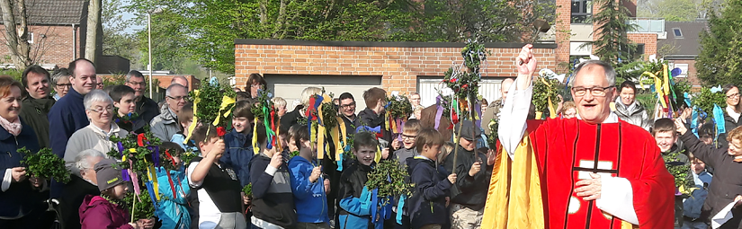 Familienmesse an Palmsonntag in St. Rochus