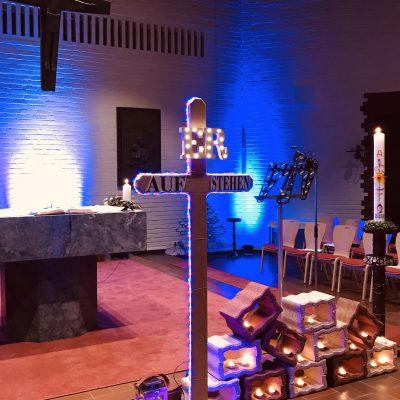 Osternacht an Karsamstag in der Jugendkirche St. Franz Sales