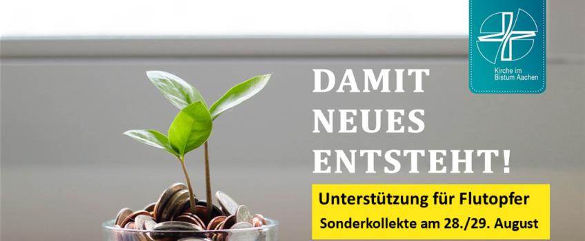 Bistumsweite Sonderkollekte für die Flutopfer am 28./29. August